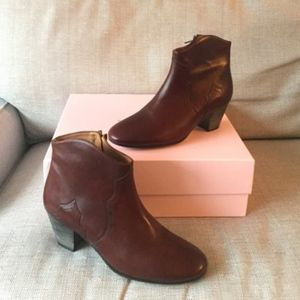 Isabel Marant The Dicker Leather Ankle Boots 38/ 8